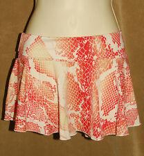 VICTORIA'S SECRET - Org & Wh - Snake Print - Stretchy Mini Skirt Twirl Hem sz M