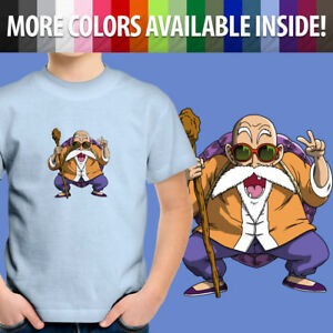 Toddler Kids Tee Youth T-Shirt Gift Print Cute Anime Master Roshi Turtle Hermit