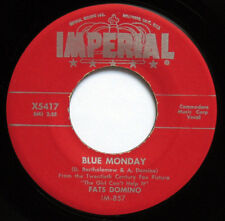 """FATS DOMINO BLUE MONDAY ORIGINAL 1956 7"""" 45 RPM IMPERIAL X5417 W/ PAPER SLEEVE"""