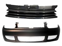 Front body Kit For VW Golf 4 IV Badgeless Grill R32 Style Bumper NO PDC