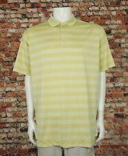 Nike Golf Dri-Fit Gold Tech Core Striped Tech Golf Polo Shirt Mens XL