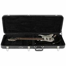 Electric Guitar Hardshell Case Lockable Wood Guitar Strap and Pick Sampler