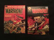 Vintage style (2)Warfront Story postcards, mint!! Comics New!! Military