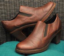 $189 Dansko 3802-2378 brown leather heel ankle booties shoes Womens 38 7.5-8 EUC