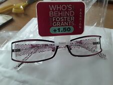 FOSTER GRANT READING GLASSES+1.50 NEW IN PACK