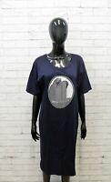 Krizia Tubino Donna Taglia 46 48 Vestito Cotone Abito Dress Woman Kimono Tunica