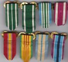 Lot of 8 x Clutch back Brooch US Miniature Ribbons Marine Army Navy AF no medals