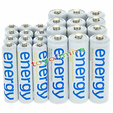 12x AA 3300mAh + 12x AAA 2000mAh Ni-Mh Energy Rechargeable Battery White Cell