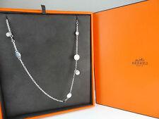 Authentic Hermes Silver 925  & AU750 long Necklace 'Confettis'