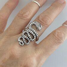 Sterling Sterling Large Snake Ring, Statement Ring, Animal Ring, Boho Ring