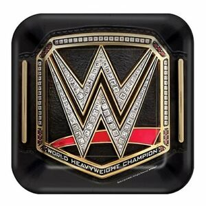 WWE 8-Pack Dessert Party Plates