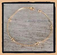 Bracelet maille paloma et fines boules Plaqué or 18 Carats Bijoux Femme