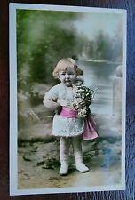 CUTE GIRL CHILD 1918 POSTCARD
