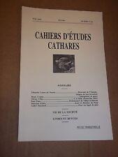 CAHIERS D ETUDES CATHARES. IIIe SERIE. N° 134 (1992) CATHARISME / ALBIGEOIS