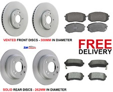 FOR KIA SPORTAGE 1.6 1.7 CRDI (2010-2016) FRONT & REAR BRAKE DISCS AND PADS- NEW