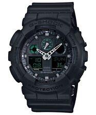Casio G-Shock Analogue/Digital Mens Black Military Watch GA100MB-1A GA-100MB-1AD