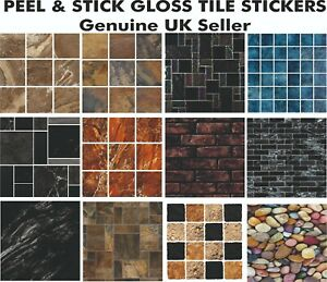 """6"""" MOSAIC TILE STICKERS -  transform your Kitchen or Bathroom PEEL & STICK"""