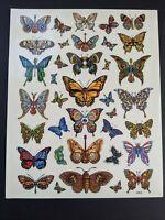 EMEK Grateful Dead & Company Butterfly Sticker Sheet VIP Print Poster Pin Set