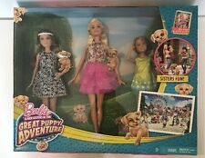 Barbie & Her Sisters Great Puppy Adventure w/blu-ray NRFB CLV04