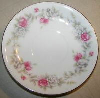 """Sango Angelique White & Pink Roses Pattern 5 1/2"""" Saucer"""