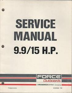 Sears Gamefisher/Force 9.9 15hp Manual on cd 260pgs