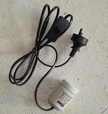 Brooder Lamp cord, Socket, plug and switch
