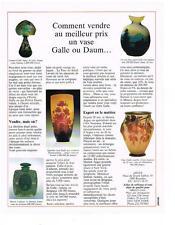 PUBLICITE ADVERTISING  1990  DAUM  comment vendre au meilleur prix un vase