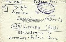 POW Camp 228 Clapham 1947 German Prisoner of War Kriegsgefangenenpost (L81)