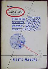 Cessna 500 Transceiver NAV/COM+OMNI ADF Pilot's Manual