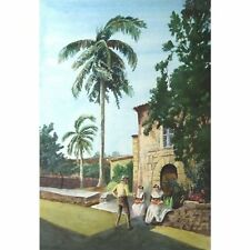 Holloway Bristol SELVAGGI artista mediterraneo Pittura ad Acquerello 25 x 38 cm