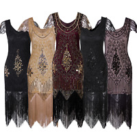 Art Deco 1920s Beads Flapper Gatsby Cocktail Dress Wedding Evening Party Dresses