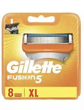 Gillette Fusion 5 XL Blades New Blades 8 Pack Cartridges Microfin Guard Genuine