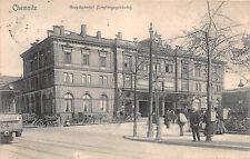Chemnitz Sachsen Hauptbahnhof Empfangsgebäude Strassenbahn 1906