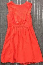 J Crew Women Sleeveless Dress Sheer Chevron Pattern Neon Sz 6 Lined NWT