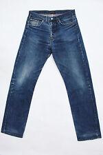 PIERRE CARDIN VINTAGE FADED FLARED JEANS DENIM BLUE 80s STRAIGHT LEG W32 L32 FAB