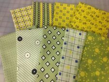 Denyse Schmidt Stonington Fabric Fat Quarter Bundle in Yellow & Green