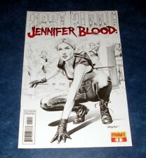 JENNIFER BLOOD FIRST BLOOD #1 1:10 B/W MAYHEW variant 1st print DYNAMITE COMIC