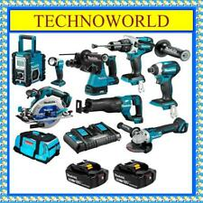 MAKITA 18V BRUSHLESS 8PC 2 X 6.0AH COMBO KIT DLX8016PG◉HAMMER DRILL◉SAW◉GRINDER