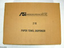 New ASI Multi/C-Fold Surface Mounted Stainless Steel Paper Towl Dispenser