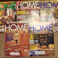 HOME Magazine Collection of 5 Back Issues