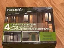 Paradise Solar 4 LED Accent Lights  Cast-Aluminum Outdoor Decor 4 Pack