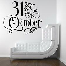 31 October Halloween Spooky Vinyl Decal Stickers Shop Window Wall Decor Home
