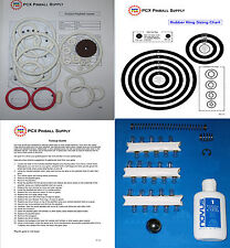 1976 Gottlieb Pioneer Pinball Basic Tune-up Kit - Includes Rubber Ring Kit