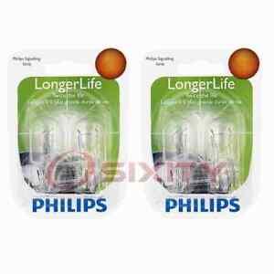 2 pc Philips Brake Light Bulbs for Scion iA iQ tC xA xB xD 2004-2016 am