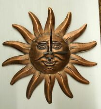 "14"" METAL SUN CLOCK - BRONZE FINISH"