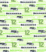 NFL Seattle Seahawks - 12 100% Cotton Fabric - Fat Eighth (9