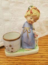 Vtg Jasco Little Luvkins Christmas Angel Candle Holder 1978