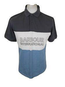 Nwt Mens Barbour International Polo Shirt Blue Medium 40 Chest