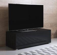 Mueble TV modelo Luke H1 (100x32cm) color negro con patas estándar