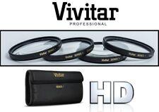 52mm Vivitar Macro +1+2+4+10 4Pcs Close Up Lens Set for Camera Camcorder